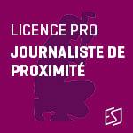 Inscription filière Journaliste de proximité (PHR)